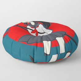 Kitsune Bunny Warrior Floor Pillow
