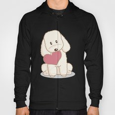 Toy Poodle Dog with Love Illustration Hoody