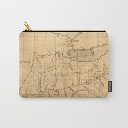 Map Of Ohio 1753 Carry-All Pouch