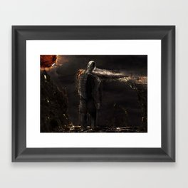 Illis and the Tar-Man Framed Art Print