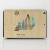 kentucky iPad Cases featuring Kentucky state map  by bri.b