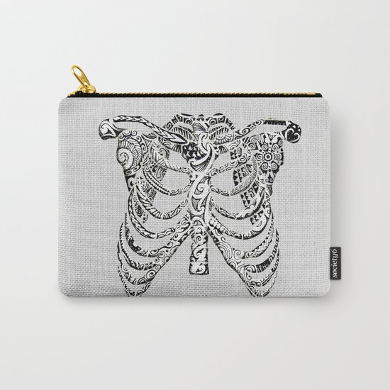 Ribcage Tattoo Carry-All Pouch