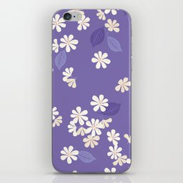 Purple Night. Cherry Blossom. iPhone Skin