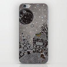 'Twas a Moonlit Winter Night iPhone Skin