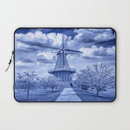 Delft Blue Dutch Windmill Laptop Sleeve