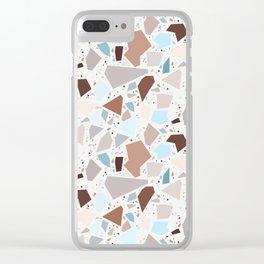 Terrazzo solo Clear iPhone Case