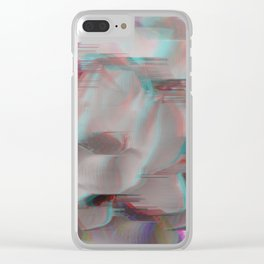 Lotus Glitch Clear iPhone Case