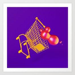 Groceries Slip Art Print