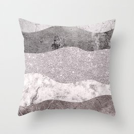 Stone Textures in Shades of Pink  Throw Pillow