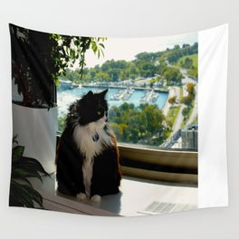 Contemplating Cat (Gracie Queen of Chicago Collection) Wall Tapestry
