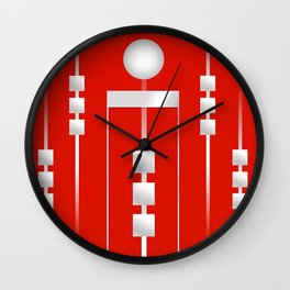 Red 11 Wall Clock