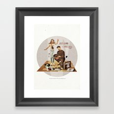 Just Gimme Indie Rock | Collage Framed Art Print