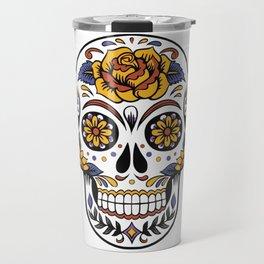 Halloween Candy Skull Travel Mug
