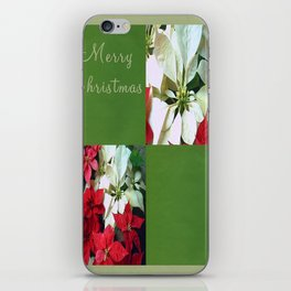 Mixed color Poinsettias 1 Merry Christmas Q5F1 iPhone Skin