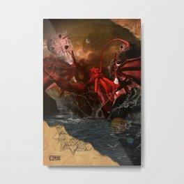Cthulhu Rises With Shoggoths Metal Print