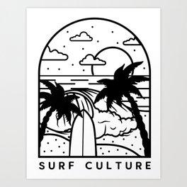 Surf Culture Art Print