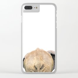 Elephant back Clear iPhone Case