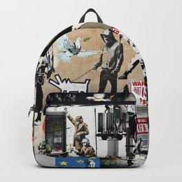 Banksy Collage Backpack