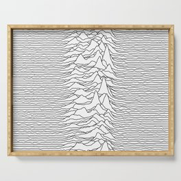 Unknown Pleasures - White Serving Tray