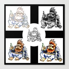 Drunk Biker Monkey Canvas Print