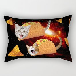 Taco Cats Space Rectangular Pillow