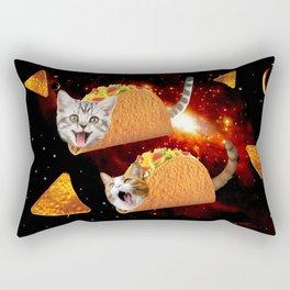 Taco Cats Space Rectangular Pillow