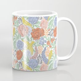 Bird Floral Coffee Mug