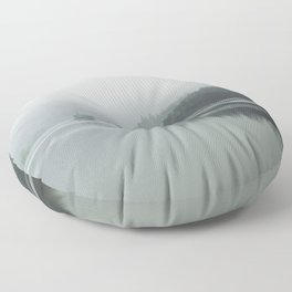Fog - Landscape Photography Floor Pillow