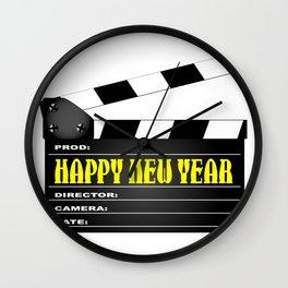Happy New Year Clapper Wall Clock