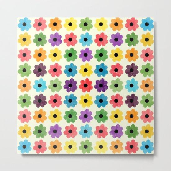 Colorful Floral Pattern IV Metal Print