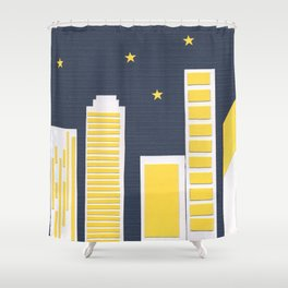 Paper Town Shower Curtain