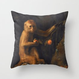 George Stubbs - A Monkey Throw Pillow