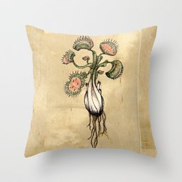 Venus Flytrap Throw Pillow