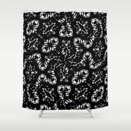 Dark Modern Abstract Pattern Shower Curtain