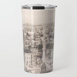 Vintage Pictorial Map of Savannah Georgia (1856) Travel Mug