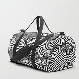 black on white Duffle Bag