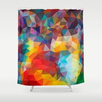 polygon Shower Curtains featuring Polygon JLM by Veronika