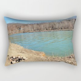 Home of Ancient Hunter-Gatherers --- The Illinois River, No. 7 Rectangular Pillow