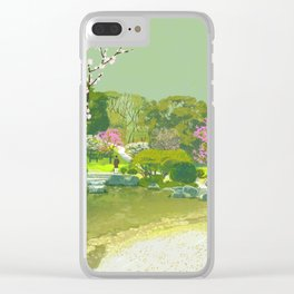Ume Blossoms Clear iPhone Case