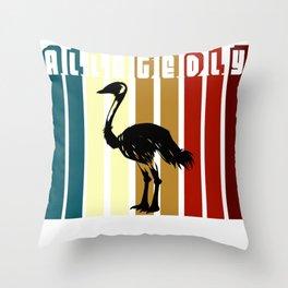 Allegedly Flightless Bird Lover Throw Pillow