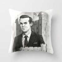 moriarty Throw Pillows featuring Moriarty by RileyStark