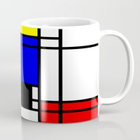 mondrian Mugs featuring Mondrian by Fine2art