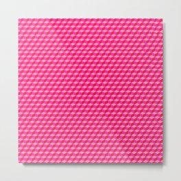 Pink Cube Tiles Metal Print