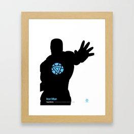SuperSeries: Iron Man Framed Art Print
