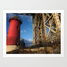The Little Red Lighthouse Art Print