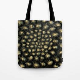 Neo Gold Sea Shell Tote Bag