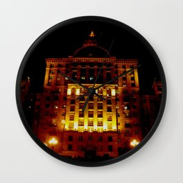 Night Crest 1 Wall Clock
