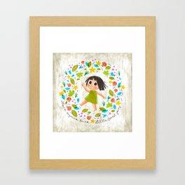 Little Forest Fairy Framed Art Print