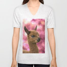 alpaca #society6 #decor #buyart Unisex V-Neck