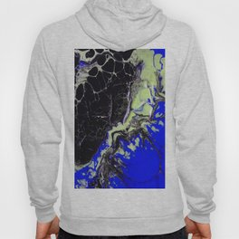 Epic Black and Blue Texture Painting Hoody